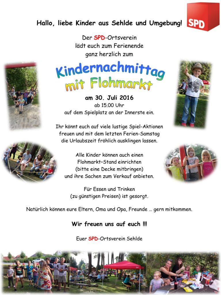 Plakat SPD Kindernachmittag 2016