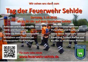 Plakat zum Tag der Feuerwehr